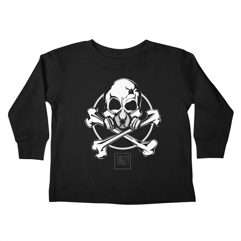 TAGZ1 Skull Logo Kids Toddler Longsleeve T-Shirt by TAGZ1
