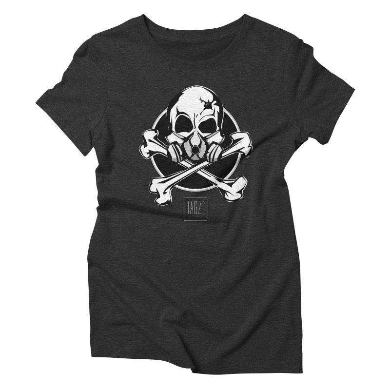 TAGZ1 Skull Logo Women's Triblend T-Shirt by TAGZ1