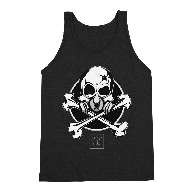 TAGZ1 Skull Logo Men's Triblend Tank by TAGZ1