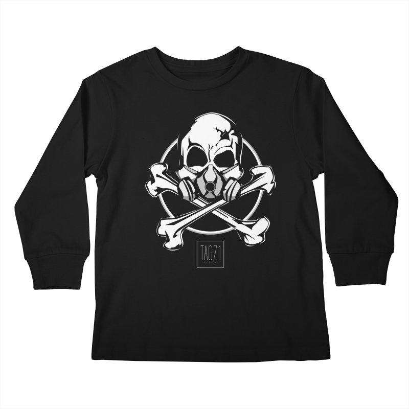 TAGZ1 Skull Logo Kids Longsleeve T-Shirt by TAGZ1