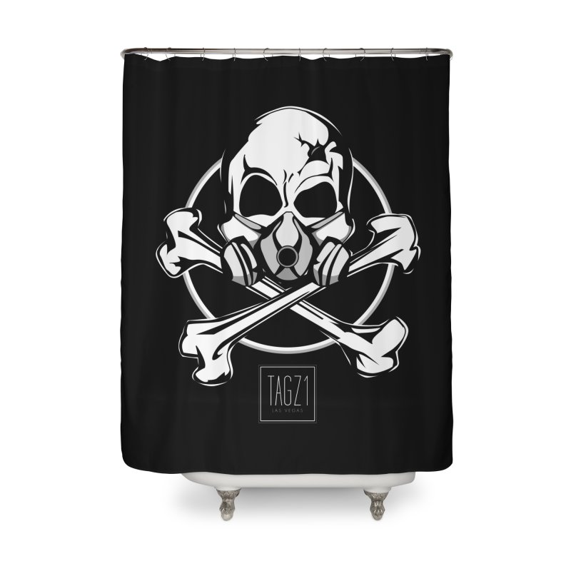 TAGZ1 Skull Logo Home Shower Curtain by TAGZ1