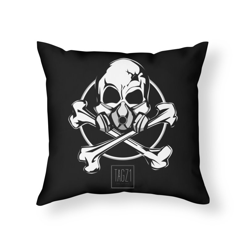 TAGZ1 Skull Logo Home Throw Pillow by TAGZ1