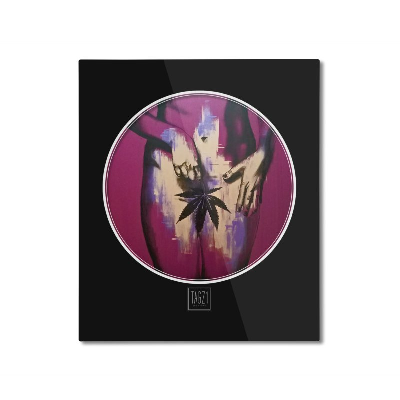 Sweet Leaf Home Mounted Aluminum Print by TAGZ1
