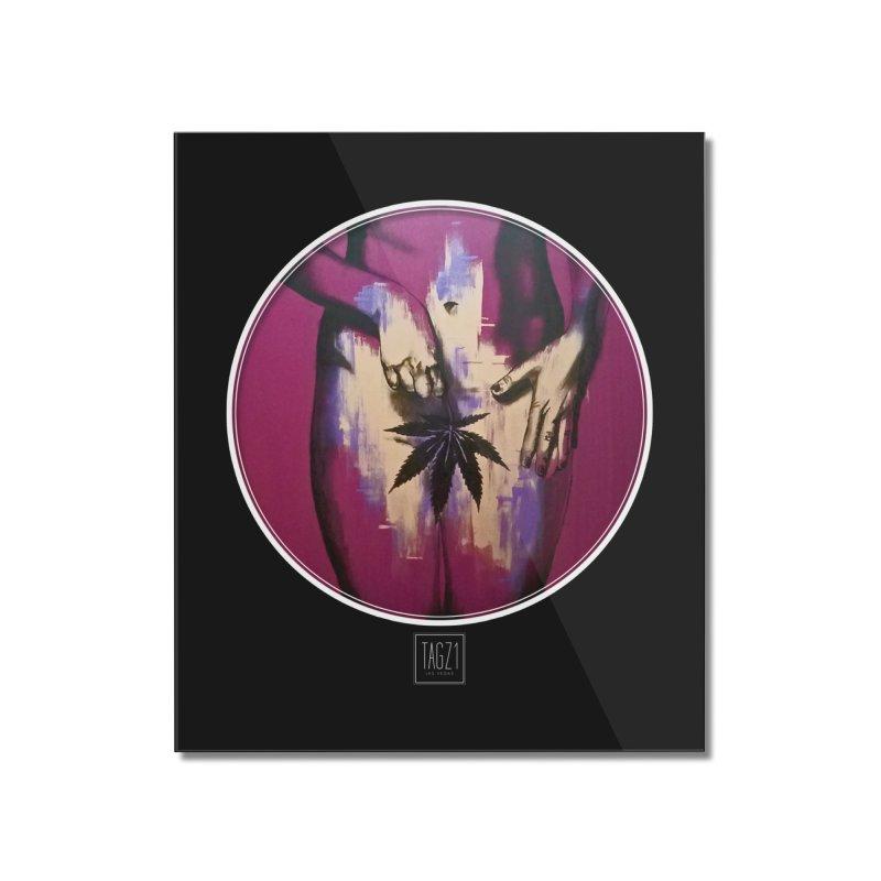 Sweet Leaf Home Mounted Acrylic Print by TAGZ1