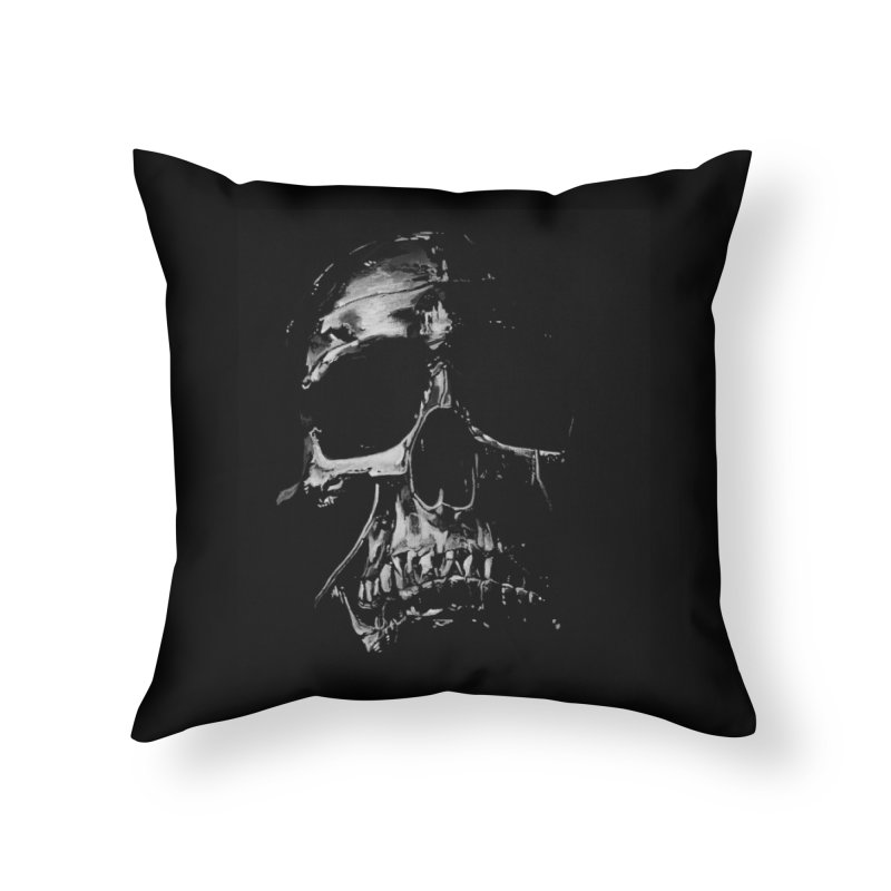 METAL \m/ Home Throw Pillow by TAGZ1