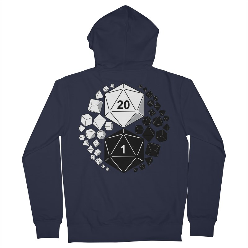 Gaming Yin Yang Men's Zip-Up Hoody by TCarver T-shirt Designs