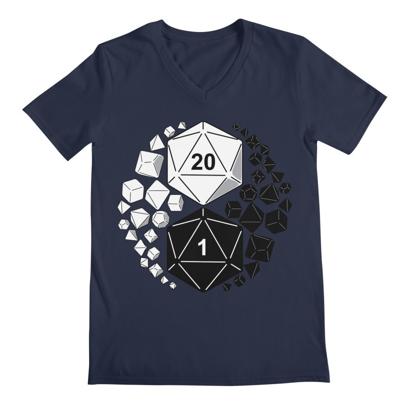 Gaming Yin Yang Men's V-Neck by TCarver T-shirt Designs