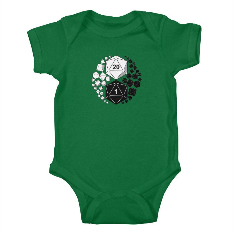 Gaming Yin Yang Kids Baby Bodysuit by TCarver T-shirt Designs