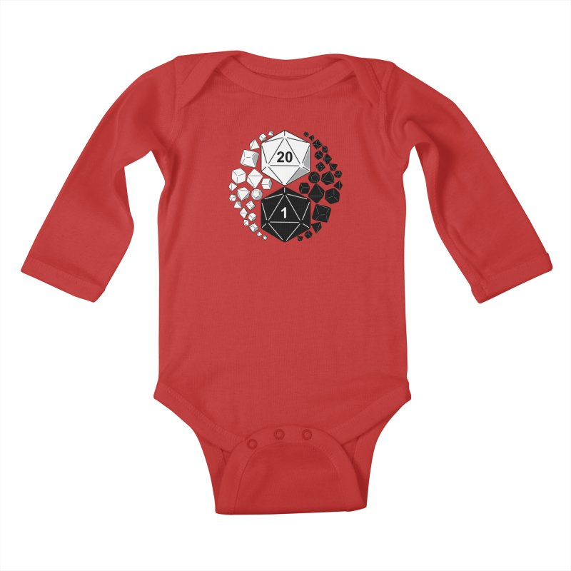 Gaming Yin Yang Kids Baby Longsleeve Bodysuit by TCarver T-shirt Designs