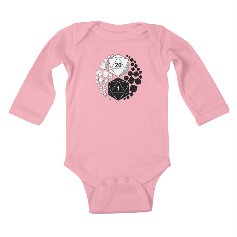 Gaming Yin Yang Kids Baby Longsleeve Bodysuit by TCarver T-shirt Designs
