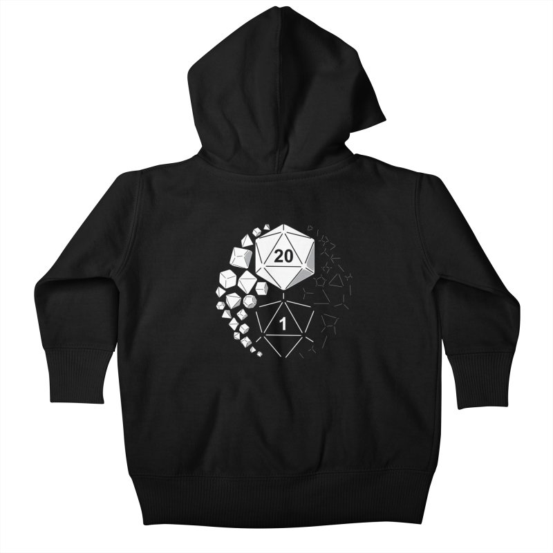 Gaming Yin Yang Kids Baby Zip-Up Hoody by TCarver T-shirt Designs
