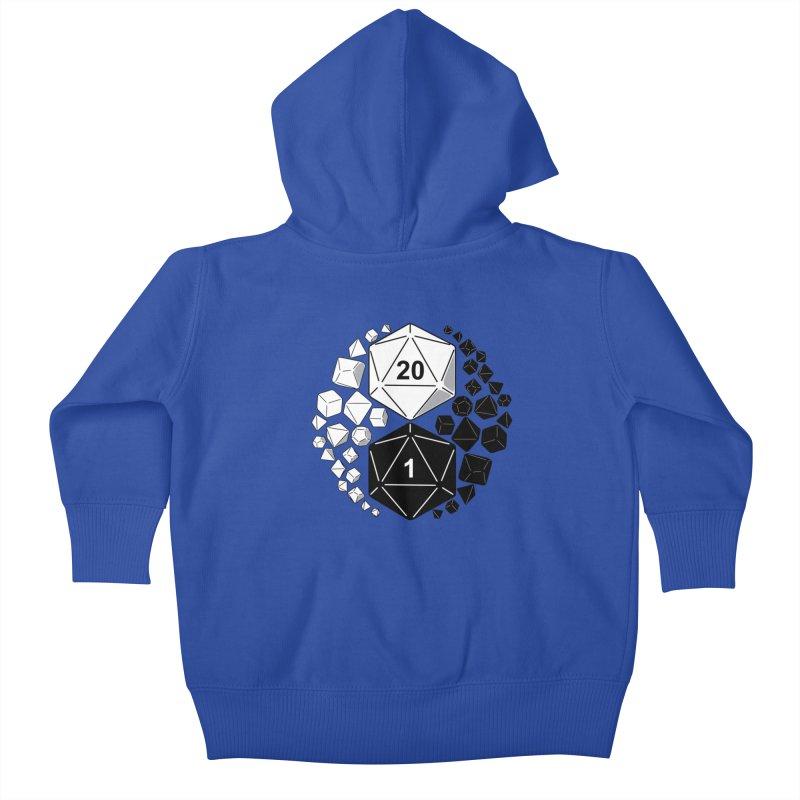 Gaming Yin Yang Kids Baby Zip-Up Hoody by TCarver T-shirt Designs