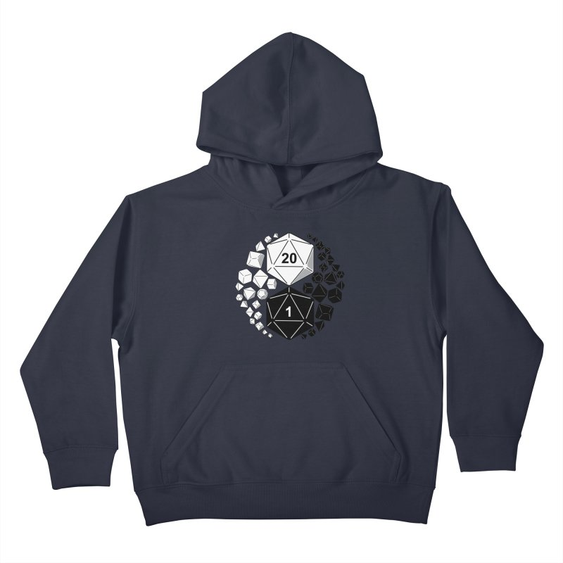 Gaming Yin Yang Kids Pullover Hoody by TCarver T-shirt Designs