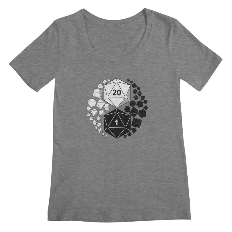 Gaming Yin Yang Women's Scoopneck by TCarver T-shirt Designs