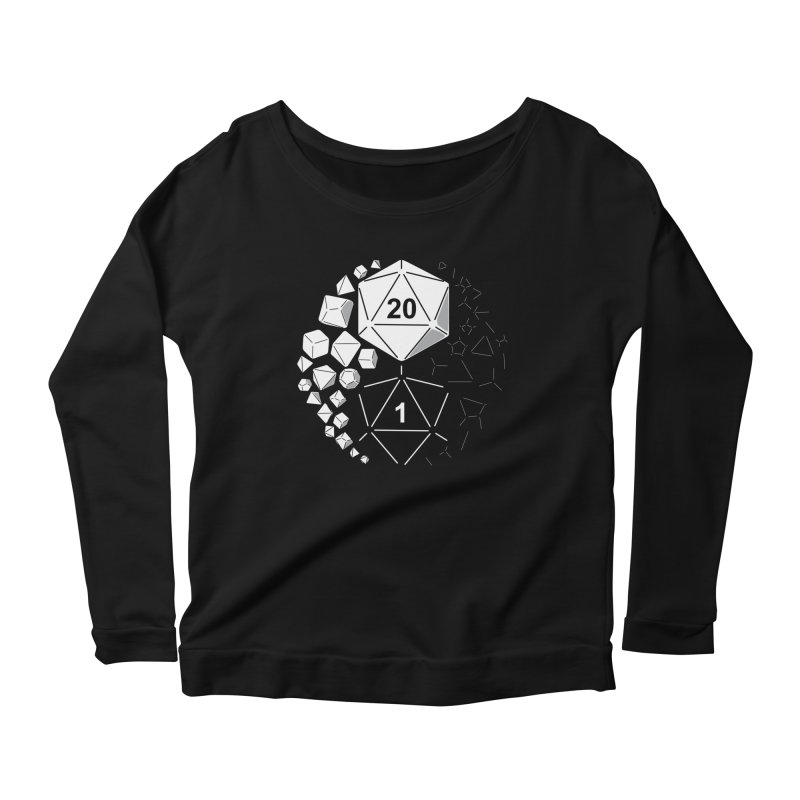 Gaming Yin Yang Women's Longsleeve Scoopneck  by TCarver T-shirt Designs
