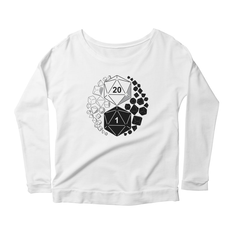 Gaming Yin Yang Women's Longsleeve Scoopneck  by TCarver T-shirt Designs
