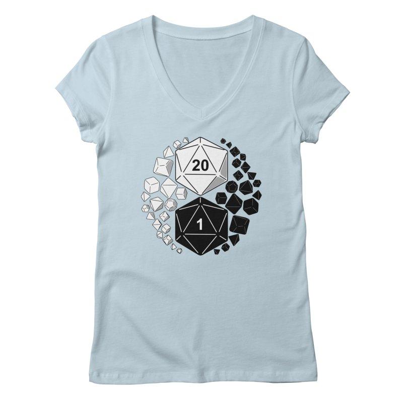 Gaming Yin Yang Women's V-Neck by TCarver T-shirt Designs