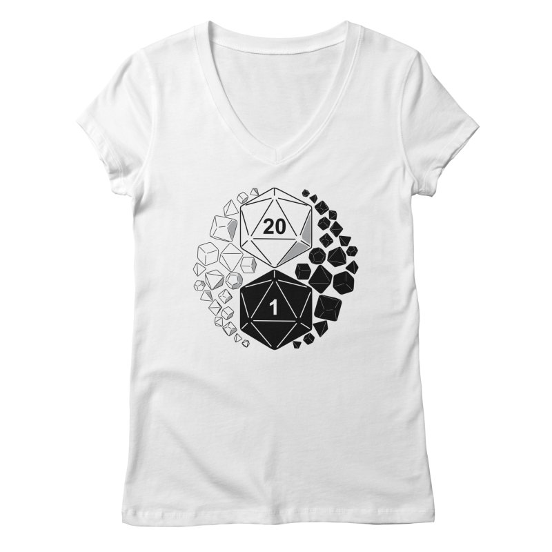 Gaming Yin Yang Women's V-Neck by TCarver T-shirt Designs