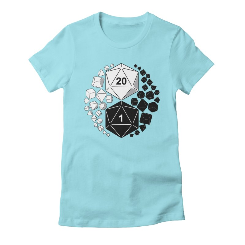 Gaming Yin Yang Women's Fitted T-Shirt by TCarver T-shirt Designs
