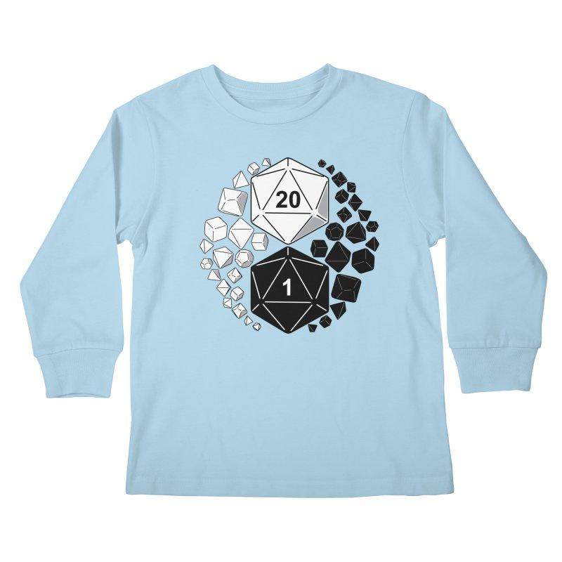Gaming Yin Yang Kids Longsleeve T-Shirt by TCarver T-shirt Designs