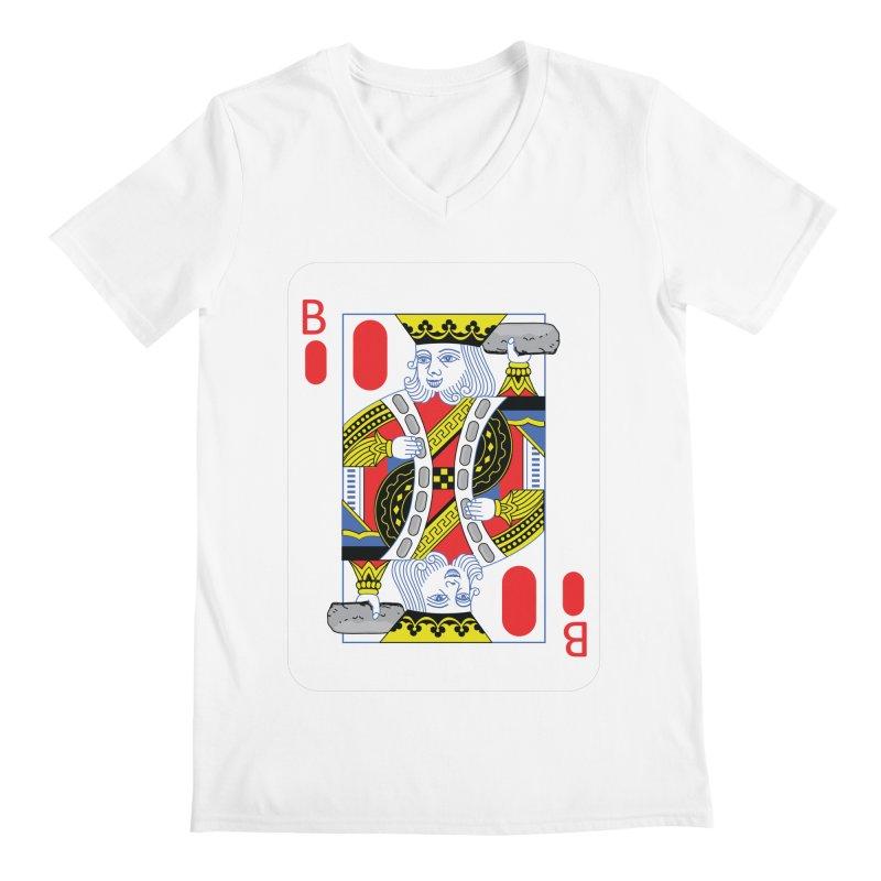 King of Burritos Men's V-Neck by TCarver T-shirt Designs
