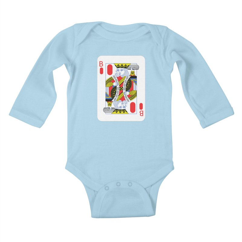 King of Burritos Kids Baby Longsleeve Bodysuit by TCarver T-shirt Designs