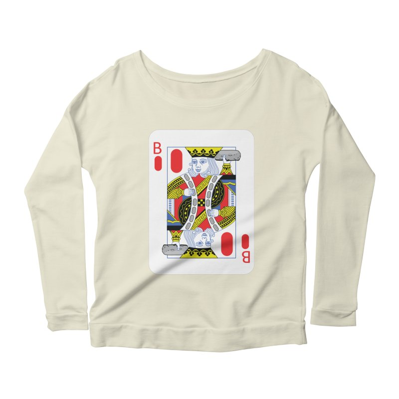 King of Burritos Women's Longsleeve Scoopneck  by TCarver T-shirt Designs