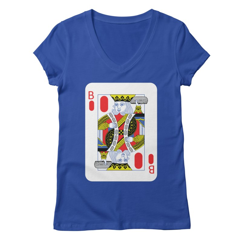 King of Burritos Women's V-Neck by TCarver T-shirt Designs