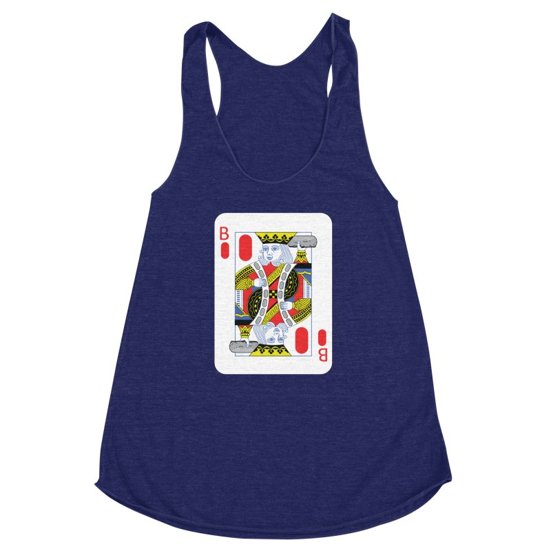 King of Burritos Women's Racerback Triblend Tank by TCarver T-shirt Designs