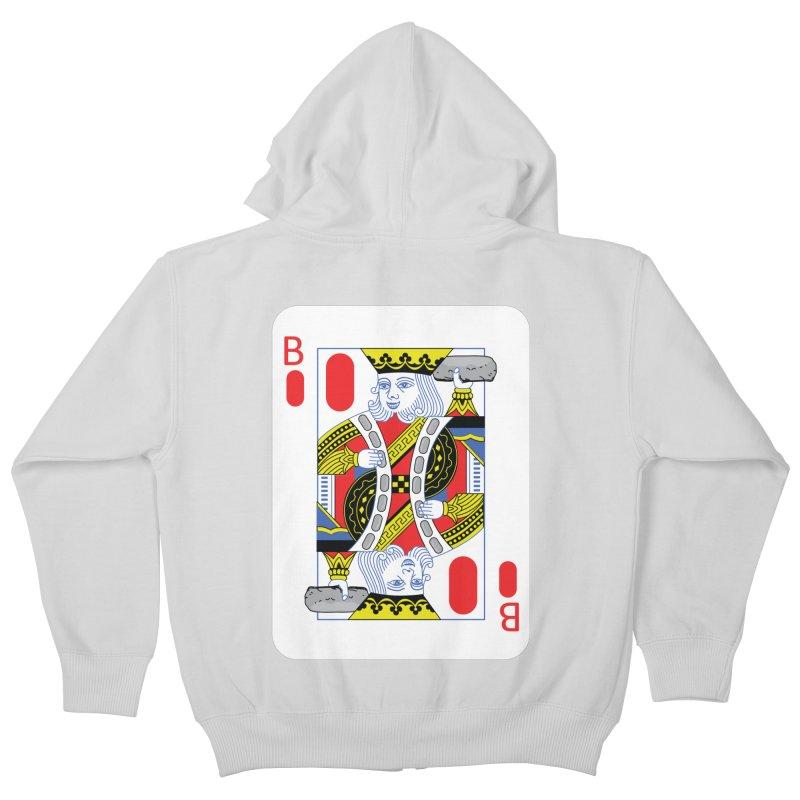 King of Burritos Kids Zip-Up Hoody by TCarver T-shirt Designs