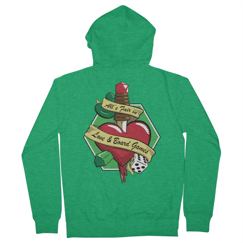All's Fair in Love and Boardgames Men's Zip-Up Hoody by TCarver T-shirt Designs