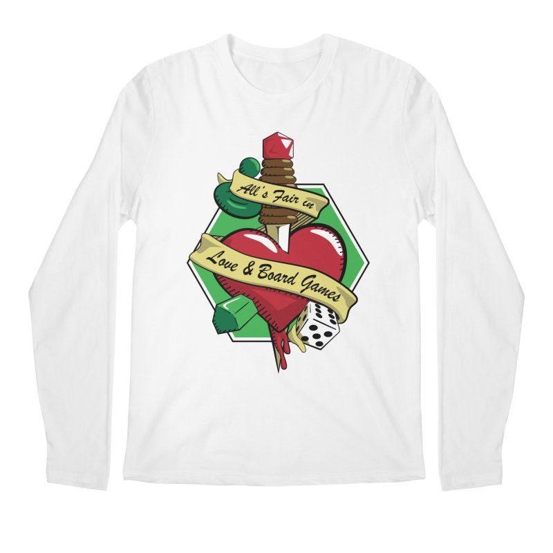 All's Fair in Love and Boardgames Men's Longsleeve T-Shirt by TCarver T-shirt Designs
