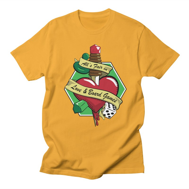 All's Fair in Love and Boardgames Men's T-shirt by TCarver T-shirt Designs