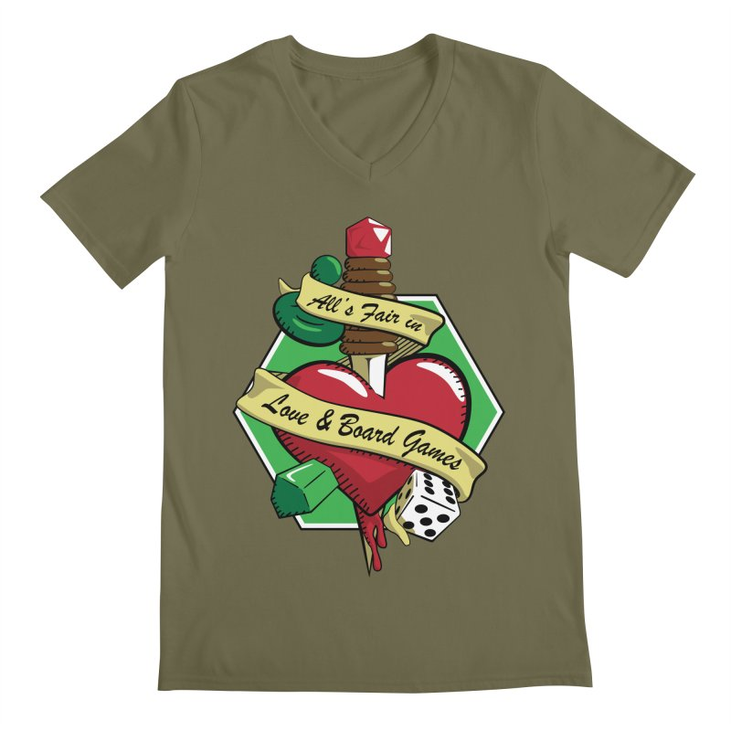 All's Fair in Love and Boardgames Men's V-Neck by TCarver T-shirt Designs
