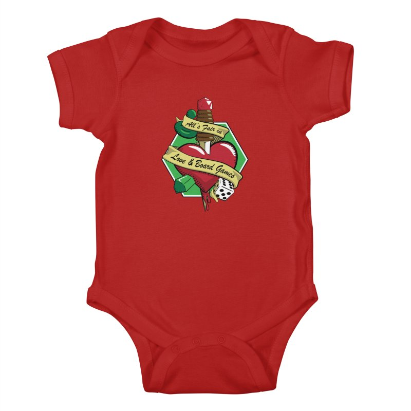 All's Fair in Love and Boardgames Kids Baby Bodysuit by TCarver T-shirt Designs