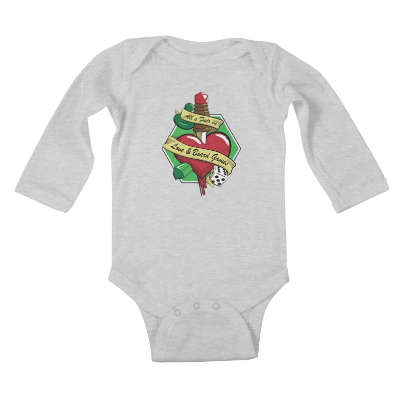 All's Fair in Love and Boardgames Kids Baby Longsleeve Bodysuit by TCarver T-shirt Designs