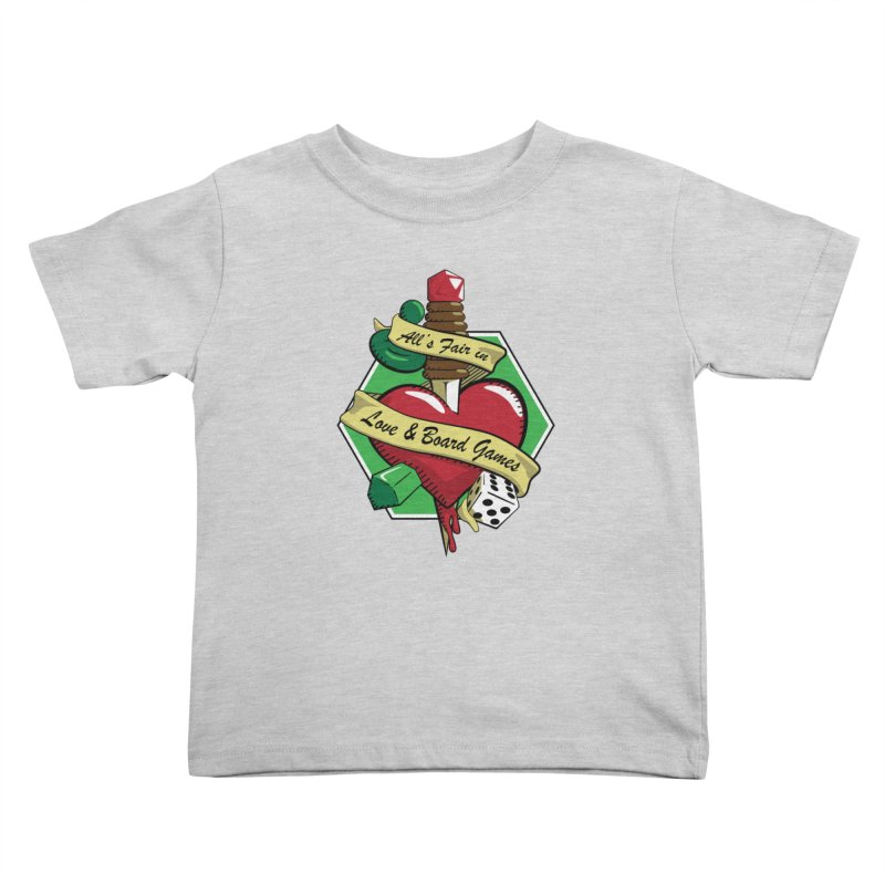 All's Fair in Love and Boardgames Kids Toddler T-Shirt by TCarver T-shirt Designs