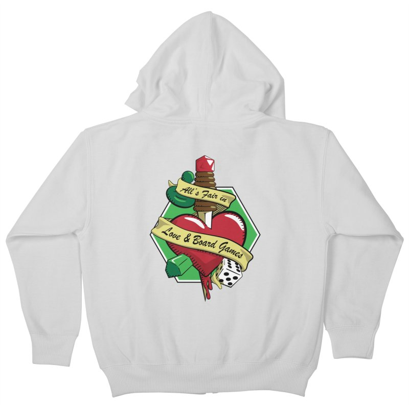 All's Fair in Love and Boardgames Kids Zip-Up Hoody by TCarver T-shirt Designs