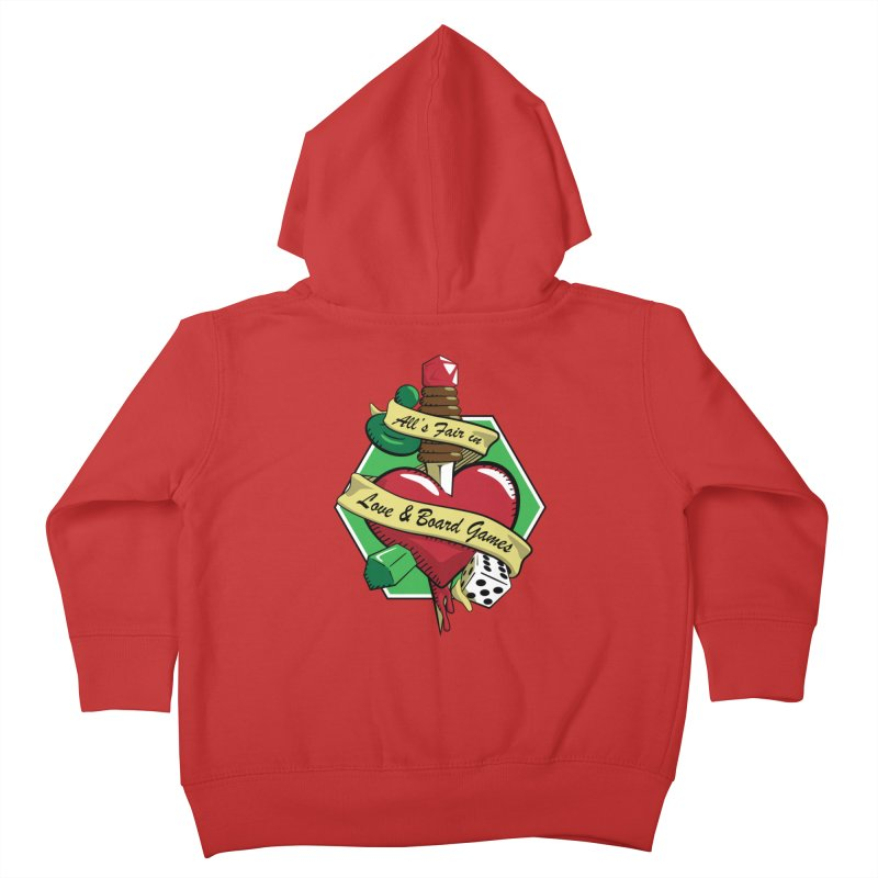 All's Fair in Love and Boardgames Kids Toddler Zip-Up Hoody by TCarver T-shirt Designs