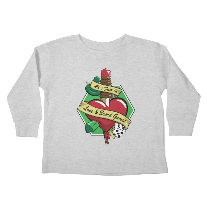 All's Fair in Love and Boardgames Kids Toddler Longsleeve T-Shirt by TCarver T-shirt Designs