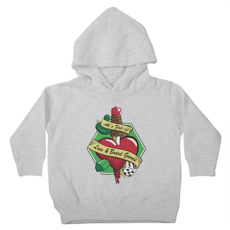All's Fair in Love and Boardgames Kids Toddler Pullover Hoody by TCarver T-shirt Designs
