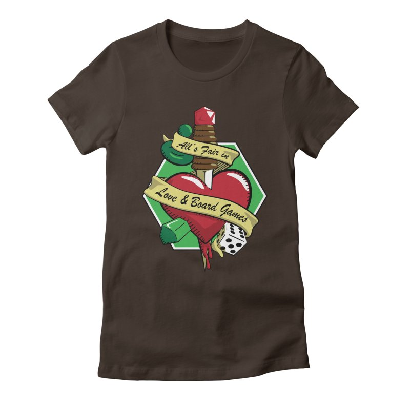 All's Fair in Love and Boardgames Women's Fitted T-Shirt by TCarver T-shirt Designs