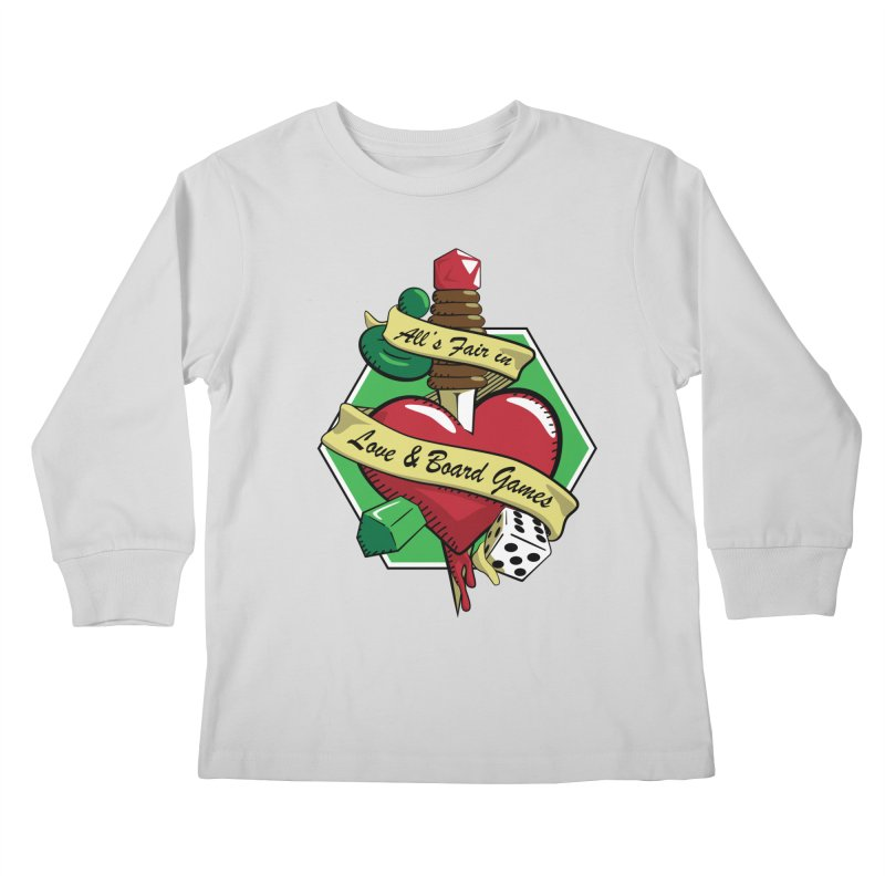 All's Fair in Love and Boardgames Kids Longsleeve T-Shirt by TCarver T-shirt Designs