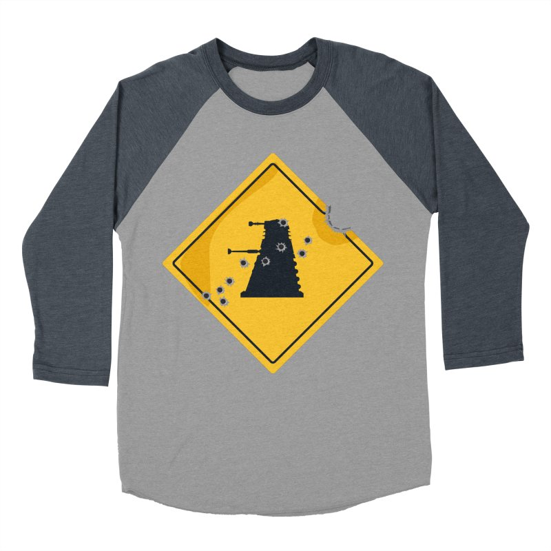 Dalek Crossing Men's Baseball Triblend T-Shirt by TCarver T-shirt Designs