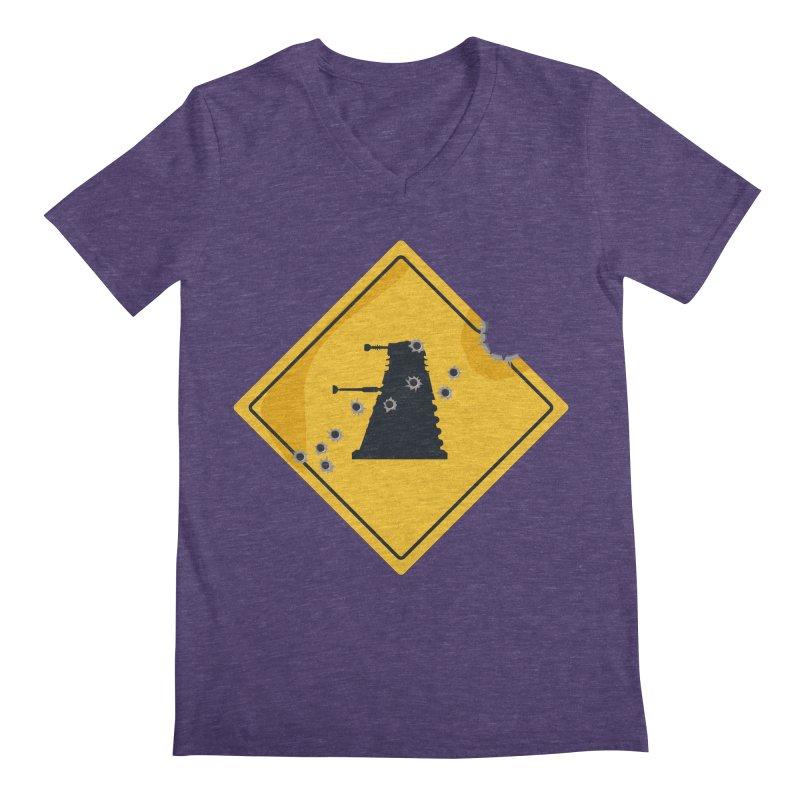 Dalek Crossing Men's V-Neck by TCarver T-shirt Designs