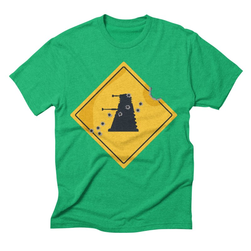 Dalek Crossing Men's Triblend T-shirt by TCarver T-shirt Designs