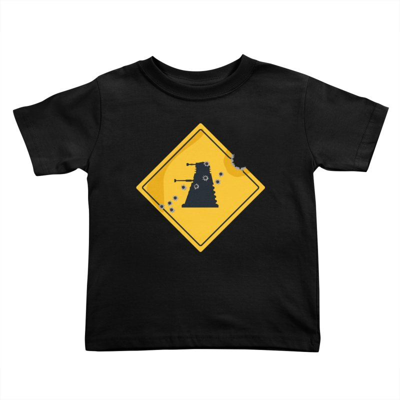 Dalek Crossing Kids Toddler T-Shirt by TCarver T-shirt Designs