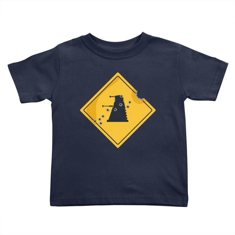 Dalek Crossing Kids Toddler T-Shirt by TCarver T-shirt Designs