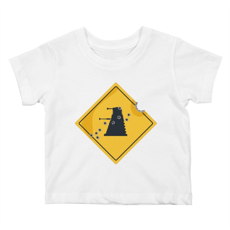 Dalek Crossing Kids Baby T-Shirt by TCarver T-shirt Designs