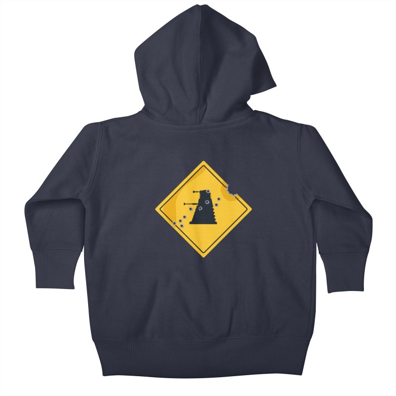 Dalek Crossing Kids Baby Zip-Up Hoody by TCarver T-shirt Designs